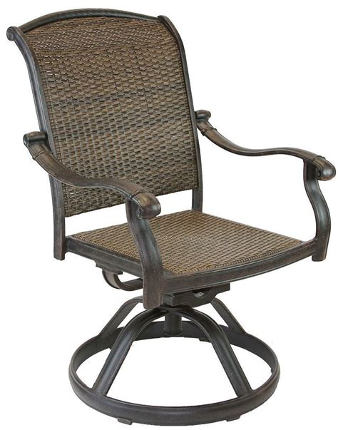 Swivel Rocker Patio Chairs Santa Clara Cast Aluminum Powder Coated Set Of 4 Swivel Rocker Dining Chairs Antique Bronze