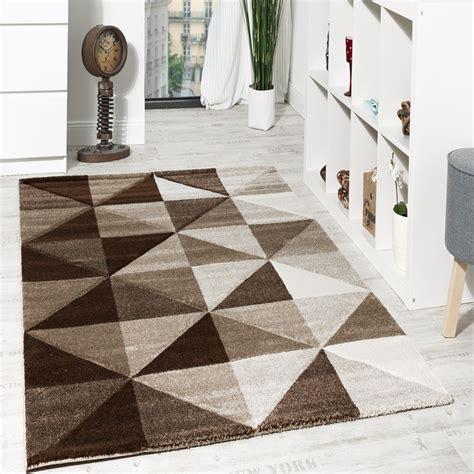 modern teppich design wohnzimmer teppich piramid design modern braun beige