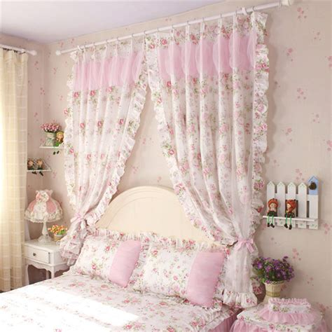 aliexpress com buy 2pcs lot bedroom curtains sexy 2pcs lot princess bedroom curtain rustic elegant flower