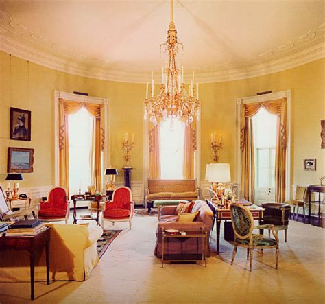 Yellow Oval Office | yellow oval room white house museum