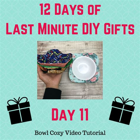 day 11 of 12 days of last minute diy gifts free