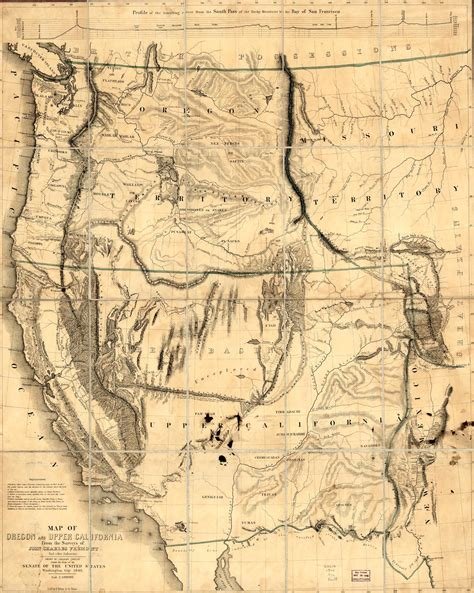 map of oregon trail 1850 california trail