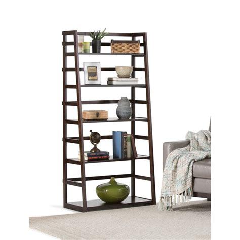 ladder shelf bookcase in tobacco brown axss008kd
