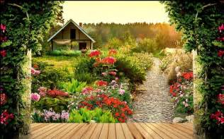 custom photo wallpaper large 3d stereo garden 3d