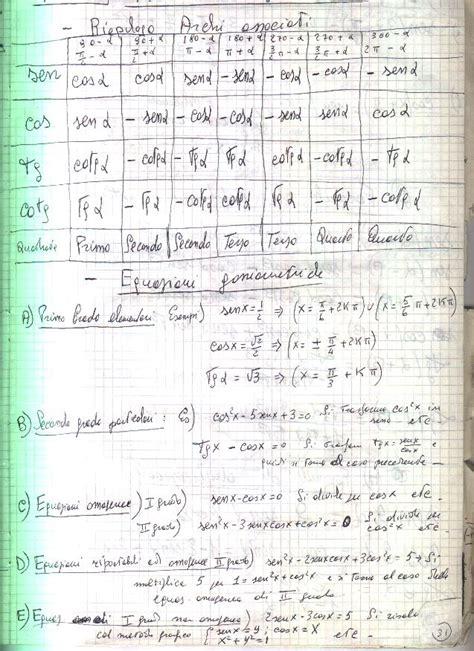 equazioni parametriche casi formulario di matematica