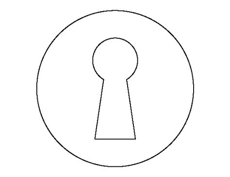 download key pattern key hole pattern use the printable outline for crafts