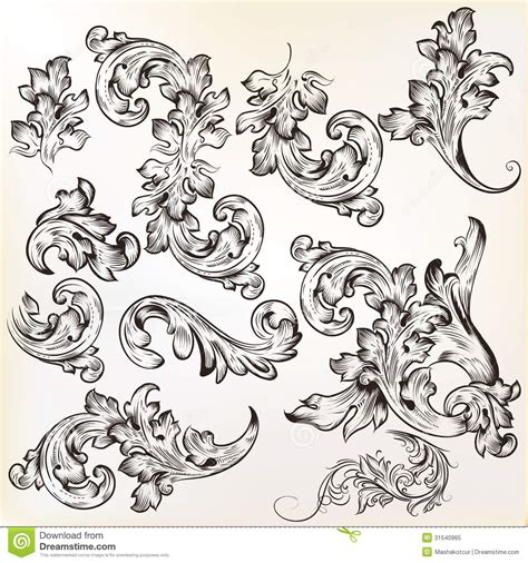 ornament design elements vector set calligraphic vintage vector design elements and page