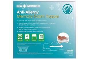 anti allergy memory foam mattress topper absolute home