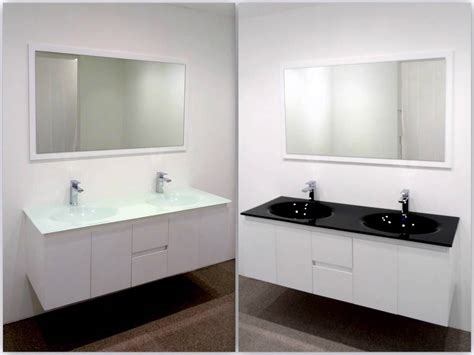 Glass Bathroom Vanity Units Bathroom Vanity Unit Glass Top Cabinet Set 1500mm Integrated Basin Wastes Ebay