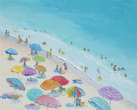 Seashore Home Decor by Beach Painting Summer Love Painting By Jan Matson