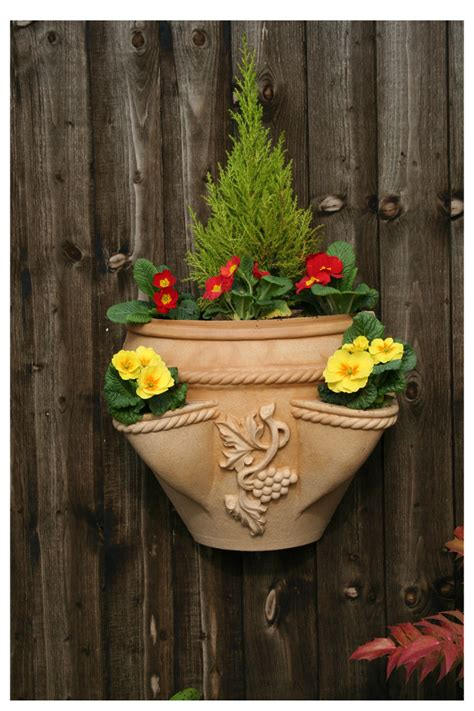 Wall Planters Uk by Ecosure The Venetian Wall Planter Mediterranean