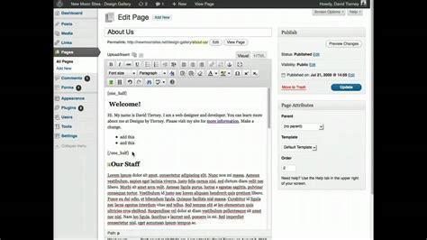tutorial wordpress shortcodes wordpress tutorial tips on adding shortcode youtube