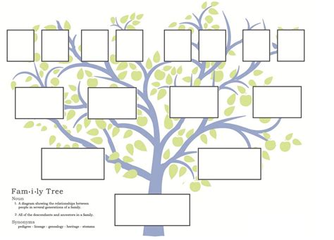 printable medical family tree family tree template family tree template a3