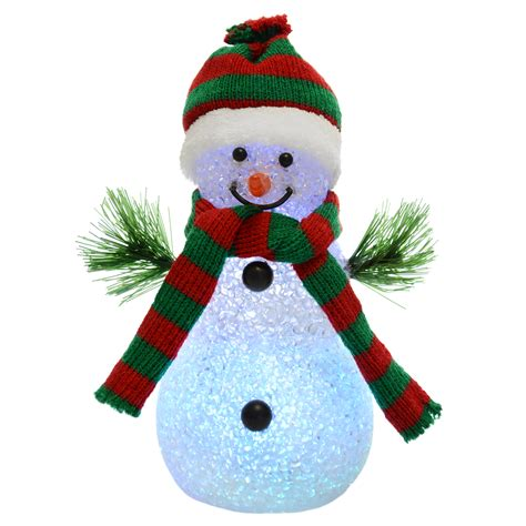 snowman decorations to make 18cm light up snowman colour changing multi led decoration figure ebay