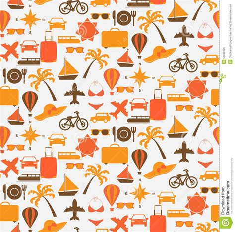 pattern travel background travel seamless pattern stock vector image of cruise