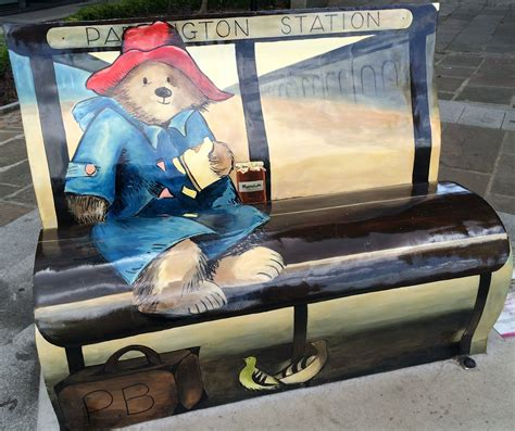 new yorker book bench london photos michael bond s paddington bear book bench