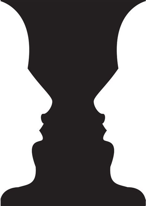 Vase Or Face Vase Face Negative And Positive Space Positive
