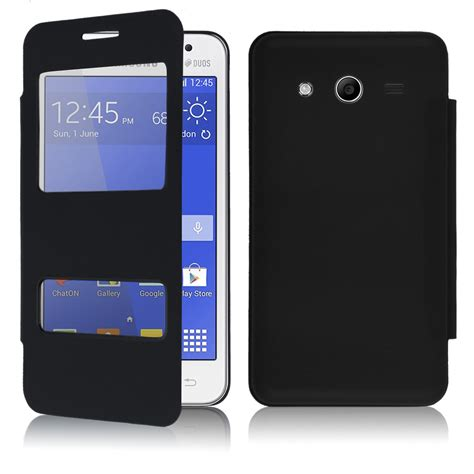 Samsung Flip 2 Sim dual view flip leather battery cover fr samsung