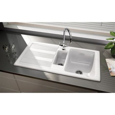 Kitchen Sinks Portland Oregon Rangemaster Portland Sink 1 5 Bowl Reversible In White