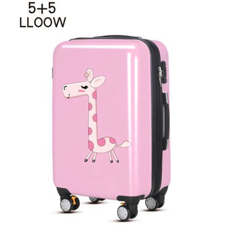 buy 55lloow cute giraffe trolley suitcase caster abs + pc