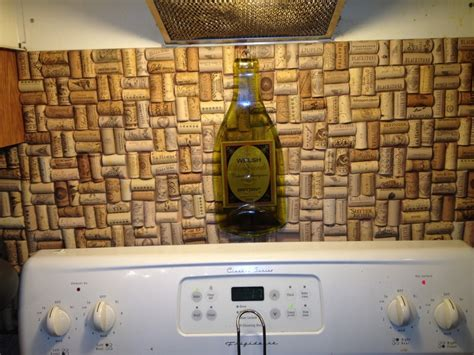 wine cork backsplash corks