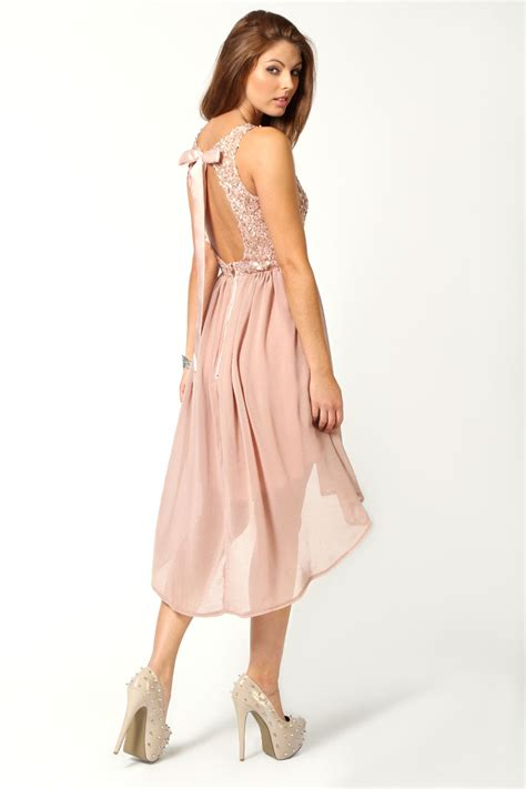 Sleeveless Dip Back Dress boohoo jess sleeveless sequin top open back chiffon dip