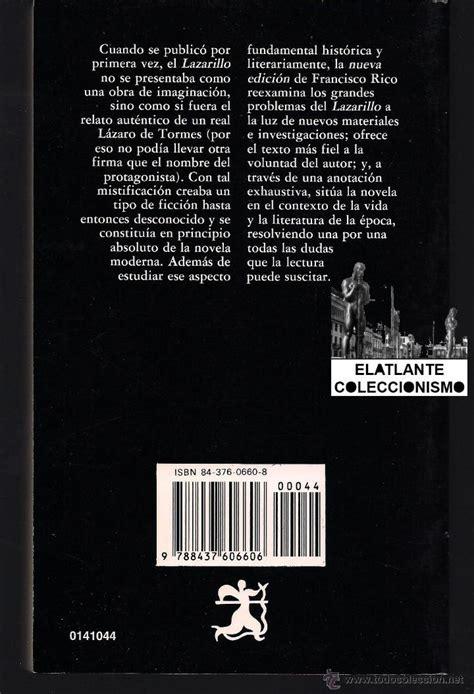 libro poesia letras hispanicas hispanic lazarillo de tormes edici 243 n de francisco rico comprar libros cl 225 sicos en todocoleccion