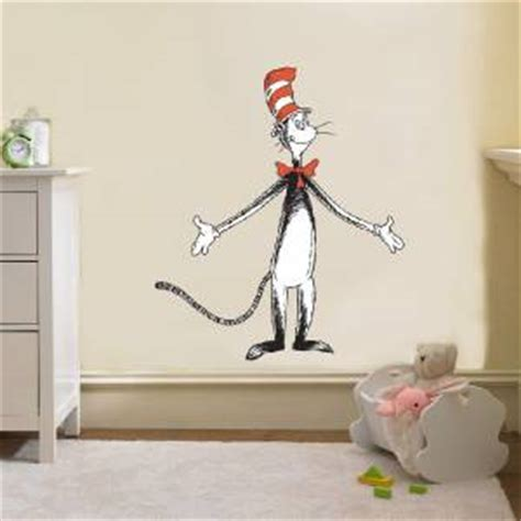 dr seuss home decor dr seuss cat in the hat decal removable wall sticker home