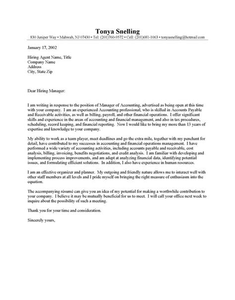 Cover Letter Accounting Letter Of Application Letter Of Application Exles For