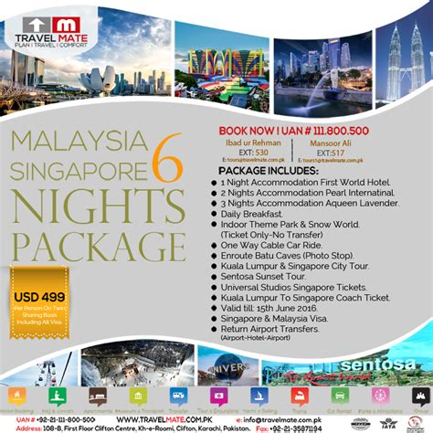 new year 2016 travel packages malaysia malaysia singapore 6 nights package travel mate