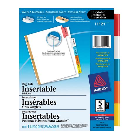 Avery Coupon Template by Avery Insertable Index Divider School