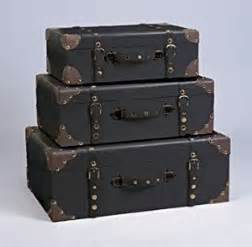 set of three decorative storage suitcase