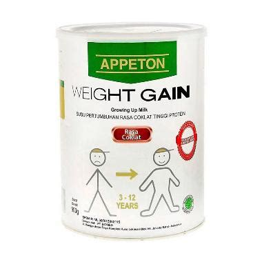 Appeton Weight Gain Di Pasaran jual appeton weight gain child coklat promo 900gr