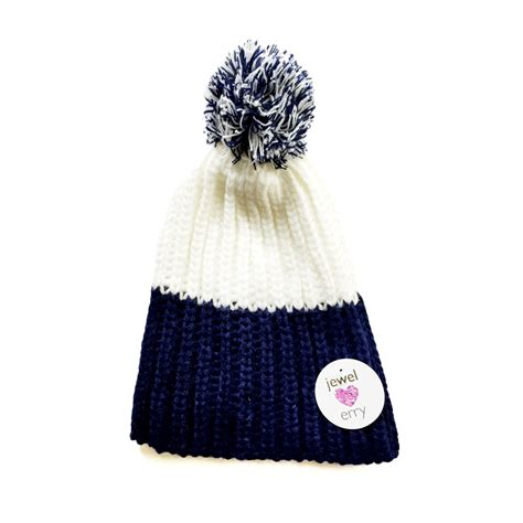 white knit hat hat1 blue white knit hat hats scarves gloves