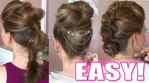 quick and easy hairstyles on youtube 5 quick easy hairstyles for any occasion youtube