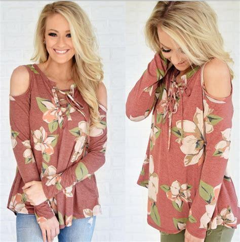 Debora Blouse H Fit Xl melodyclothing fashion flower print shoulder belt