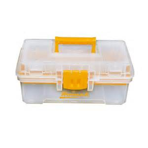 tool chest plastic shop homak 12 in lockable clear plastic tool box at lowes