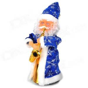 Light Ball Christmas Decoration Rotary Santa Claus Playing Saxophone Style Music Toy