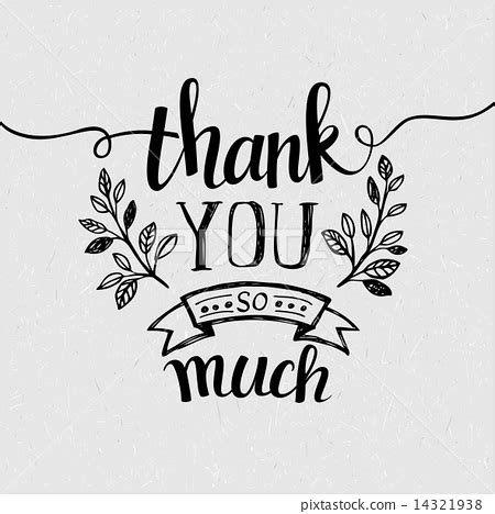 thank you card template free vector lettering thank you vector illustration stock