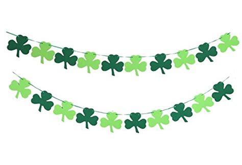 shamrock clover garland ribbon banner green st s day decorations supplies
