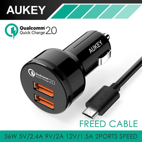 Charge 2 0 Car Charger aukey 2 usb ports usb car charger with qualcomm