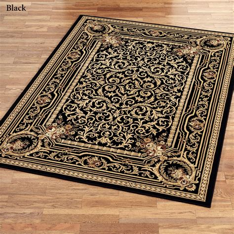Scroll Area Rug Imogene Garden Acanthus Leaf Scroll Area Rugs