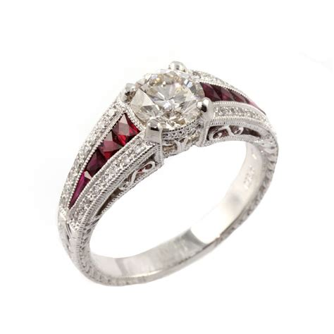 ruby ring platinum ruby ring