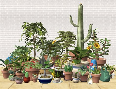 empire sims 3 3 small potted plants by lisen801 mod the sims lazy gardener s delight 32 remixed maxis