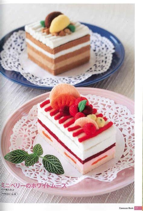 Handmade Desserts - cawauso handmade felt dessert book 02 japanese craft book