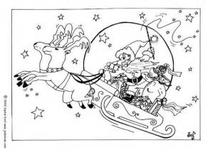 santa claus sleigh coloring pages reindeers and sleigh coloring pages hellokids