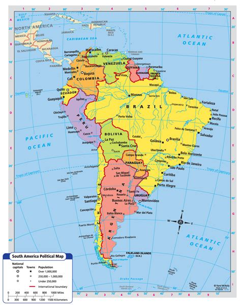 political map of south america south america map south america south america map south america and wanderlust