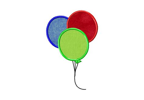 free applique design balloons machine embroidery includes both applique and