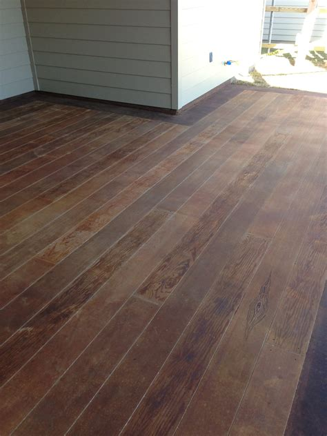 wood planks  outdoor concrete patio surecrete products