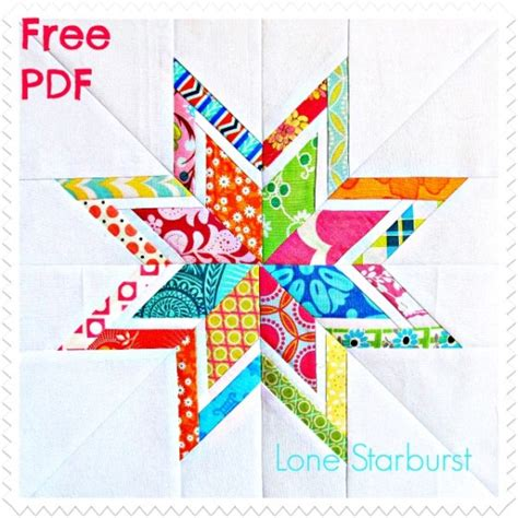 star pattern in c pdf lone starburst paper pieced quilt block free pdf pattern